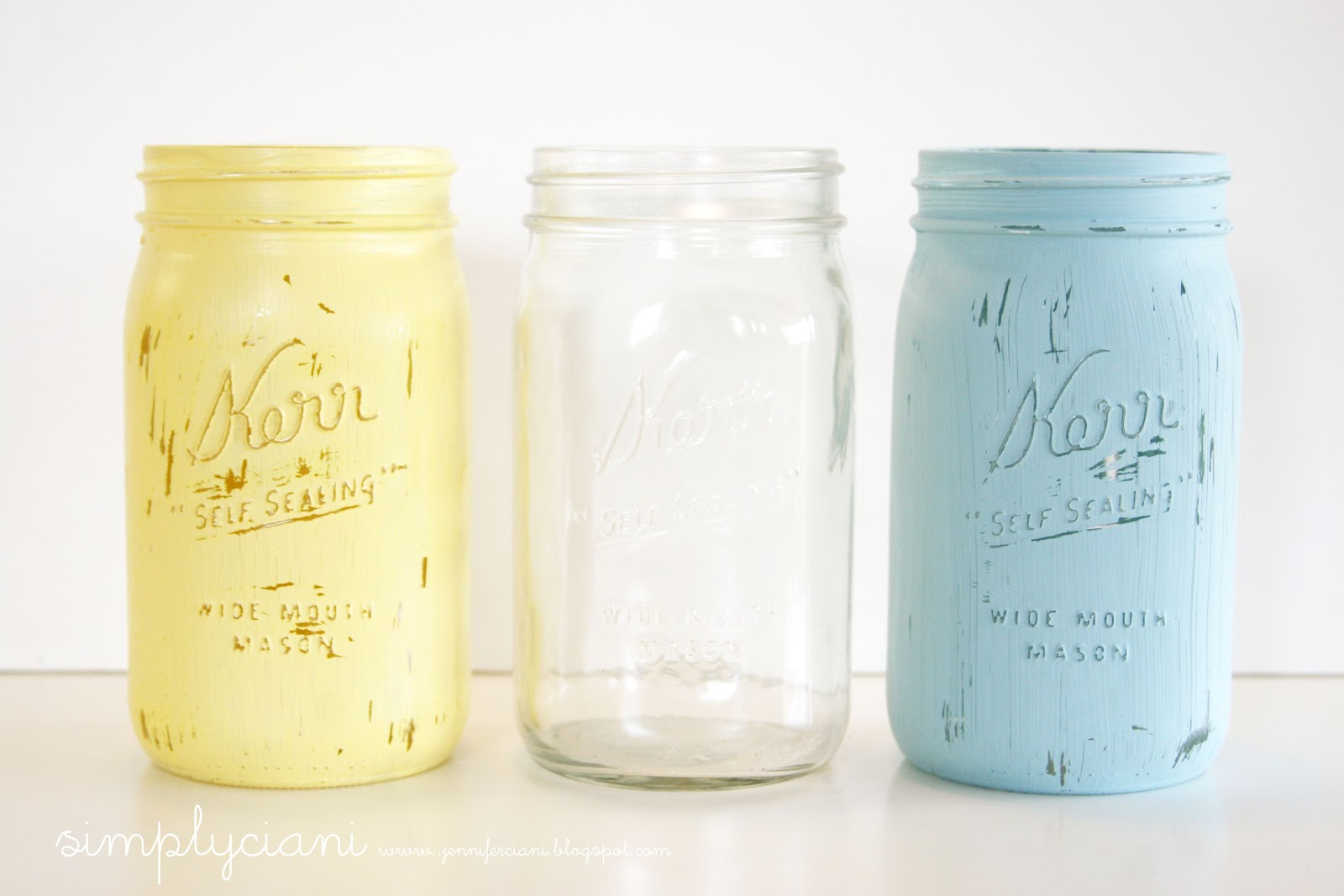 mason jars painted - photo #3