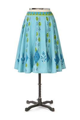 Anthropologie Blue Jay Skirt