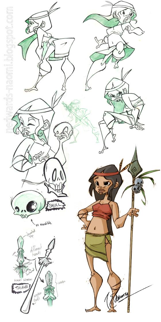 Character Design Analysis : Art of naomi edwards september