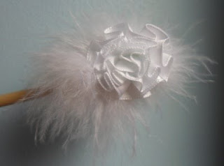 ostrich feathers hair slide