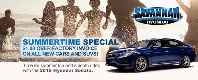 Savannah Hyundai, Summer Special