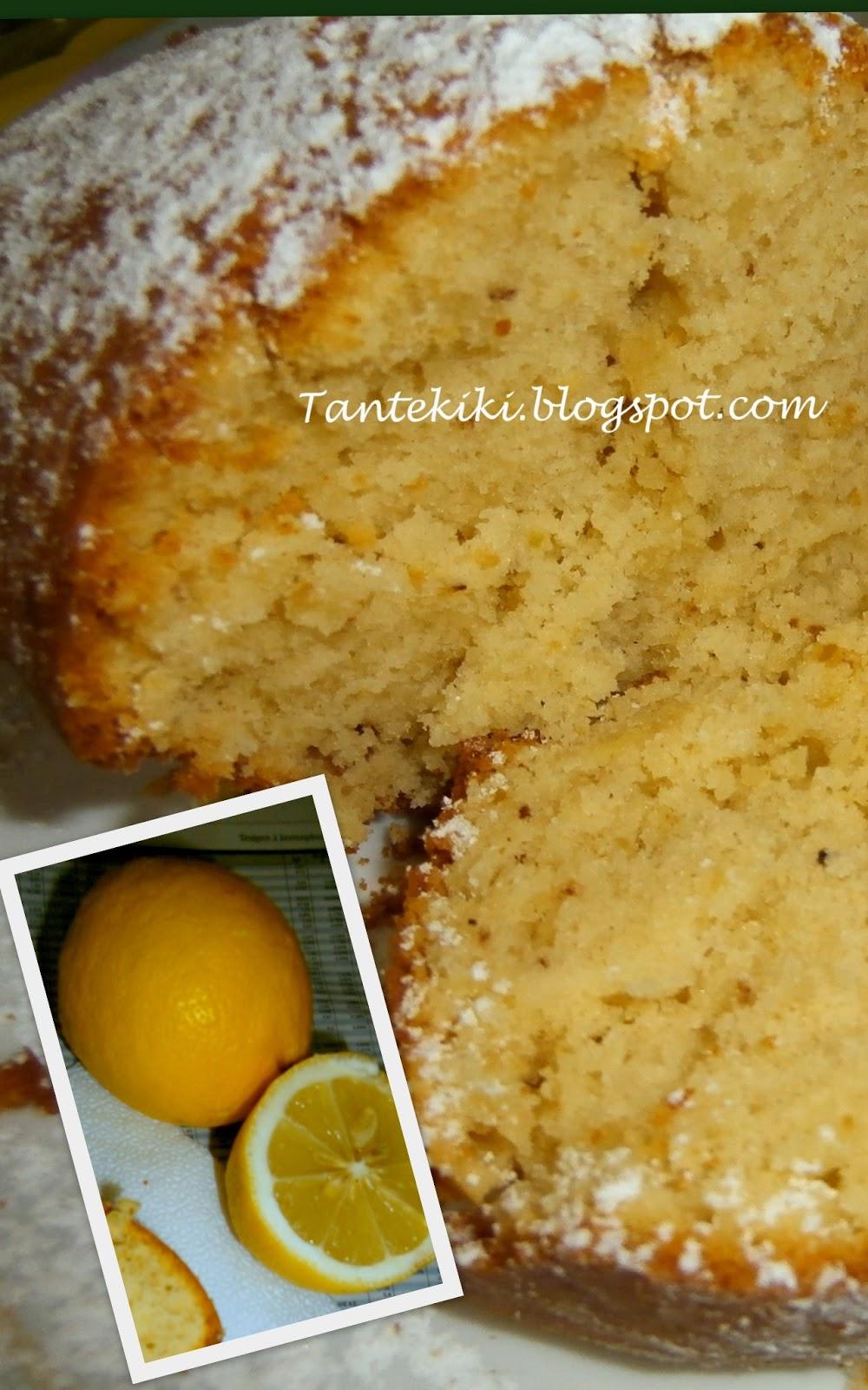 Κέικ αμυγδάλου με άρωμα λεμονιού