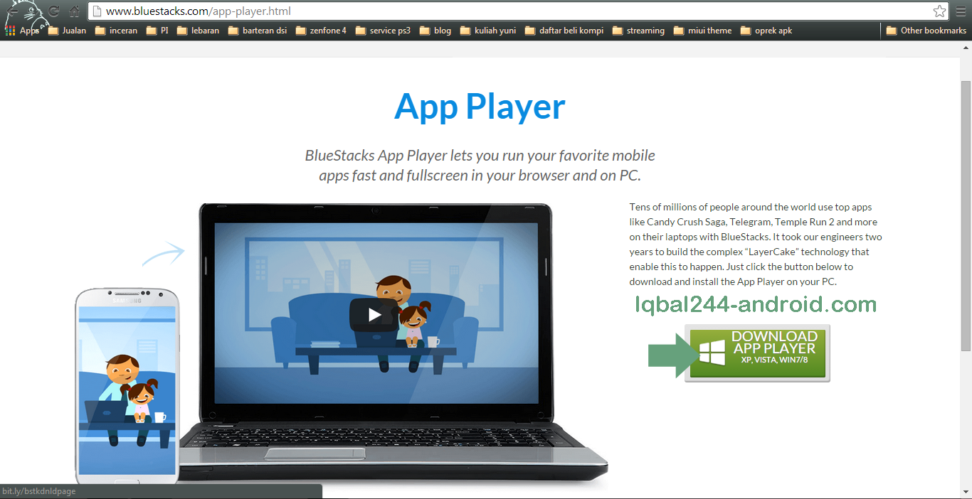 how to download bluestacks in laptop