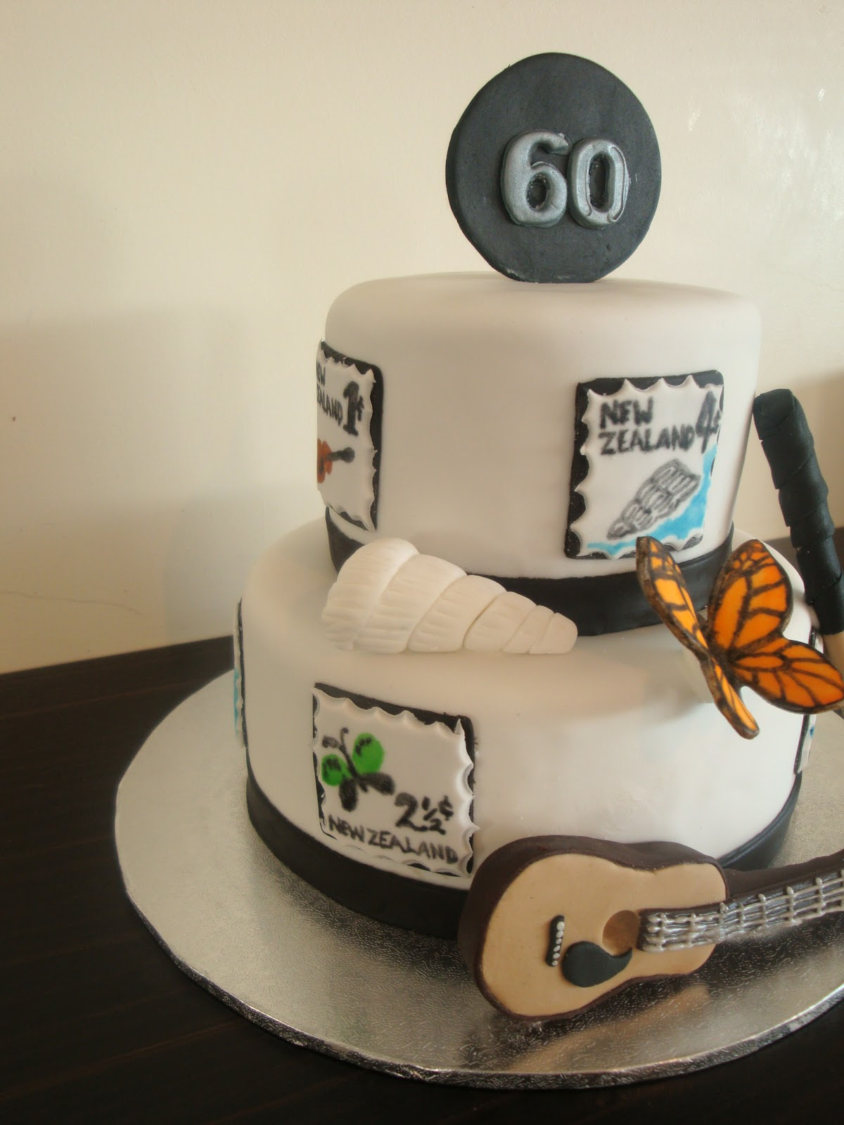 60th Birthday Cake This Was A Special For Friends Father Of Mine There Are Specific Elements In That Represent Him