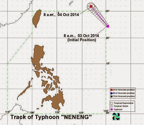 Bagyong Neneng enters PAR before noon Friday (October 3)