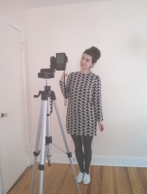 behind the scenes of making an OOTD post