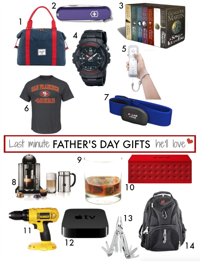 Last Minute Father's Day Gifts He'll Love - all available on Amazon - use with Prime for FREE 2-day shipping