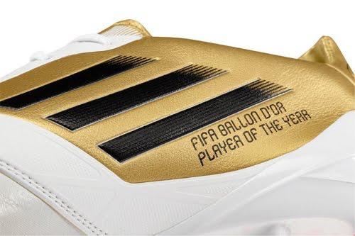 botas doradas Messi Adidas adiZero F50