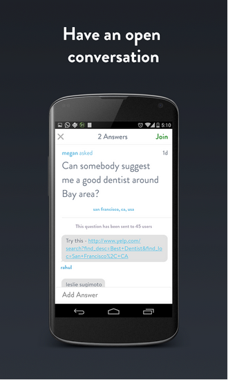 Download the Quest App:Instant Answers from People Around you