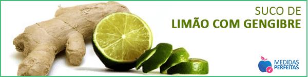 Suco de Limão com Gengibre - Sucos para Emagrecer