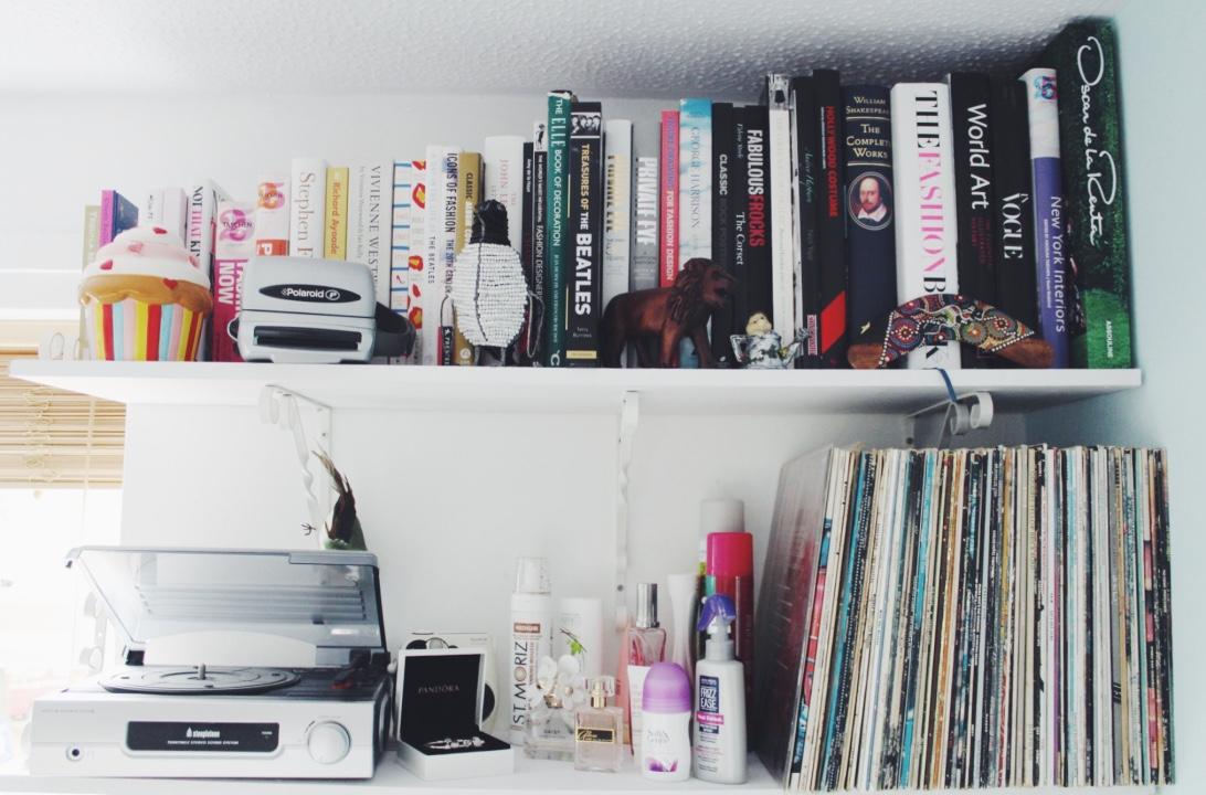 bedroom, bedroomtour, books, cactus, cameras, interiors, lifestyleblogger, lifestylebloggers, lifestylepost, music, polaroid, vinyl,