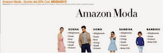 sconto 20% Amazon Moda