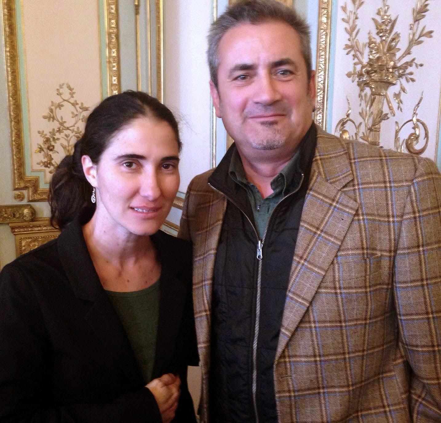 Yoani en Madrid, el pasado mes de febrero