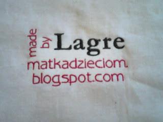 lagre logo na torbie