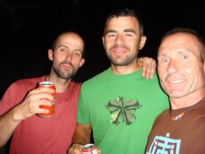 Con Luiso y David.