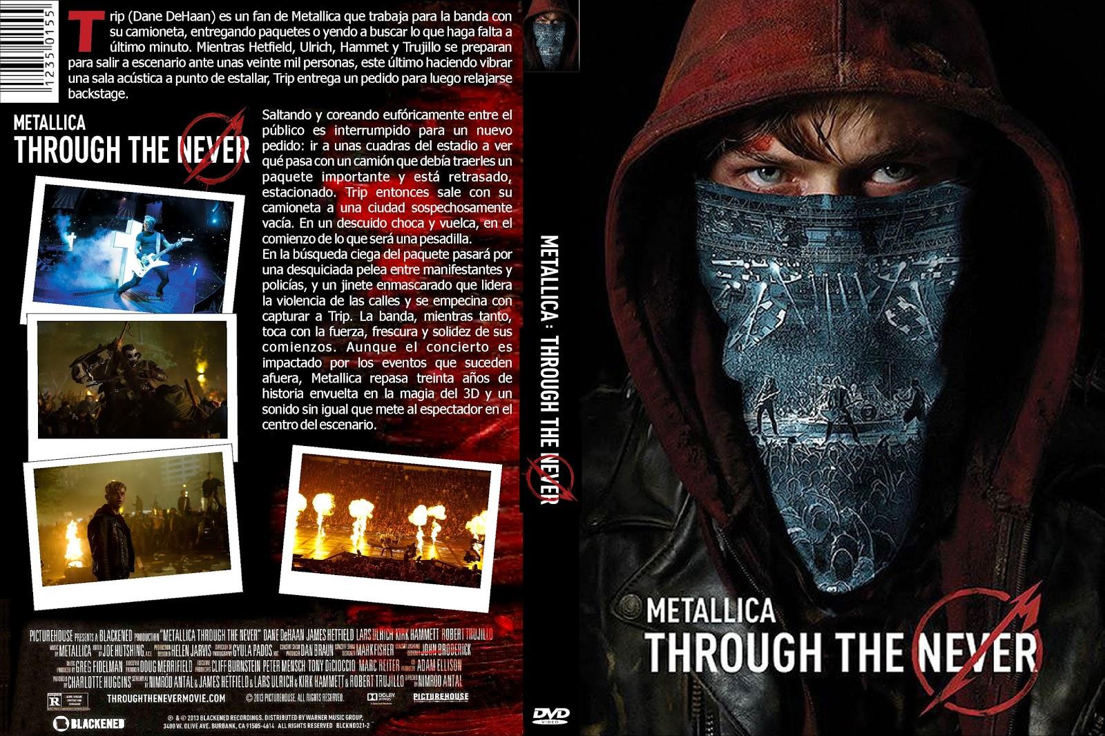 Capa DVD Metallica Through The Never