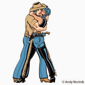 Cowboy Kissing Cowgirl Clip Art