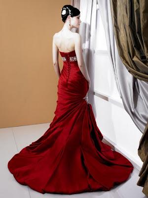 Bridesmaid Dress on Beautiful Sexy Red Dress Moonlight Wedding Dress Style J6165