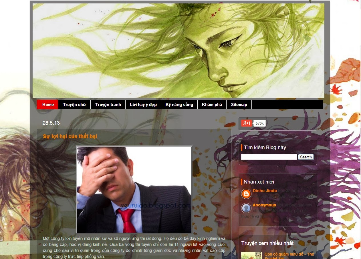 Template Blogspot trong suốt Picture Window