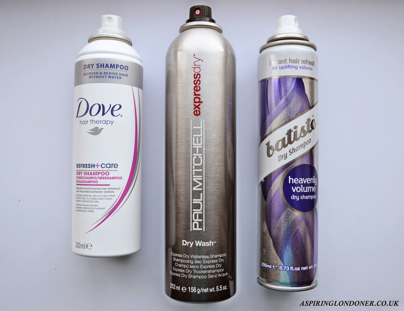 Dry Shampoo Review ft. Batiste, Dove, Paul Mitchell - Aspiring Londoner