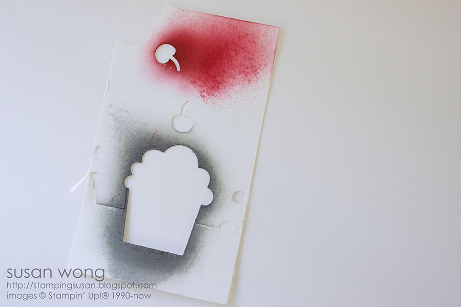Susan Wong. Cupcake Birthday Card stencil.