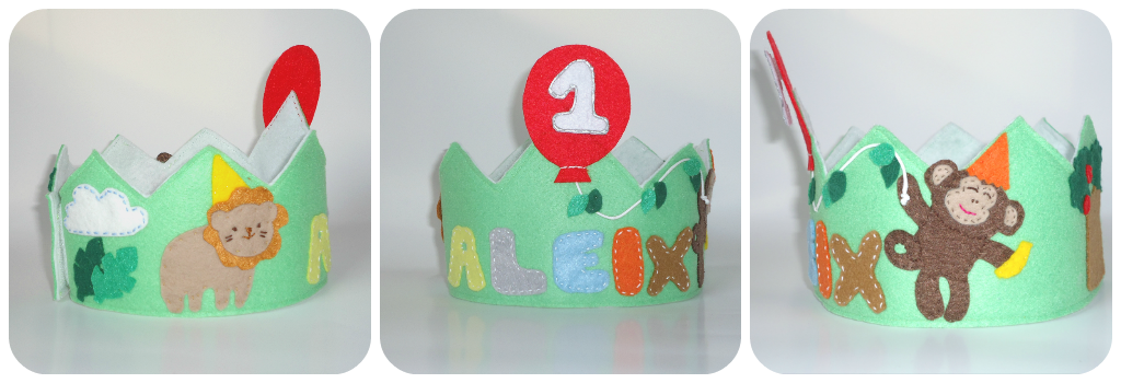 Birthday felt crown - Jungle