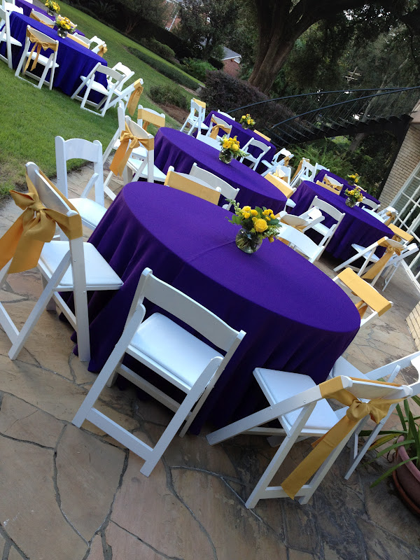 Bliss Events By Rachel {real Party} Lsuthemed Dinner. Decorative Accent Chairs. Designing A Room. Menards Living Room Furniture. Contemporary Room Dividers. Discounted Home Decor. Star Wars Party Decor. Popular Home Decor. Home Decorating Magazine