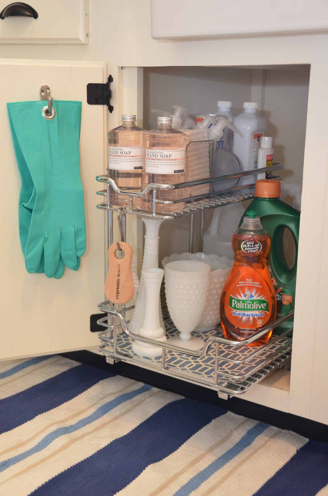 Iron twine under sink storage - Under sink bathroom storage cabinet ...