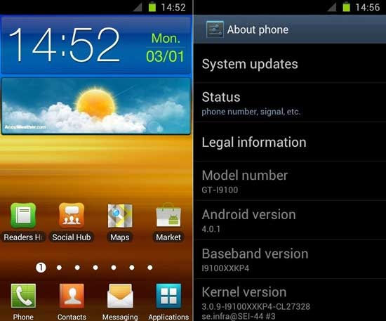 how to install android ics on samsung galaxy s 2 handset
