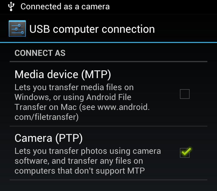 USB PTP Drivers