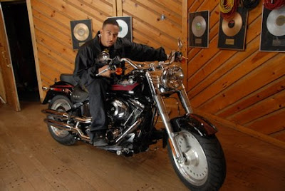 Harley-Davidson celeb on motorcycles