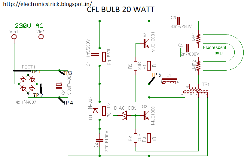 Electronics Tricks And Tips  How To Repair Cfl Bulb