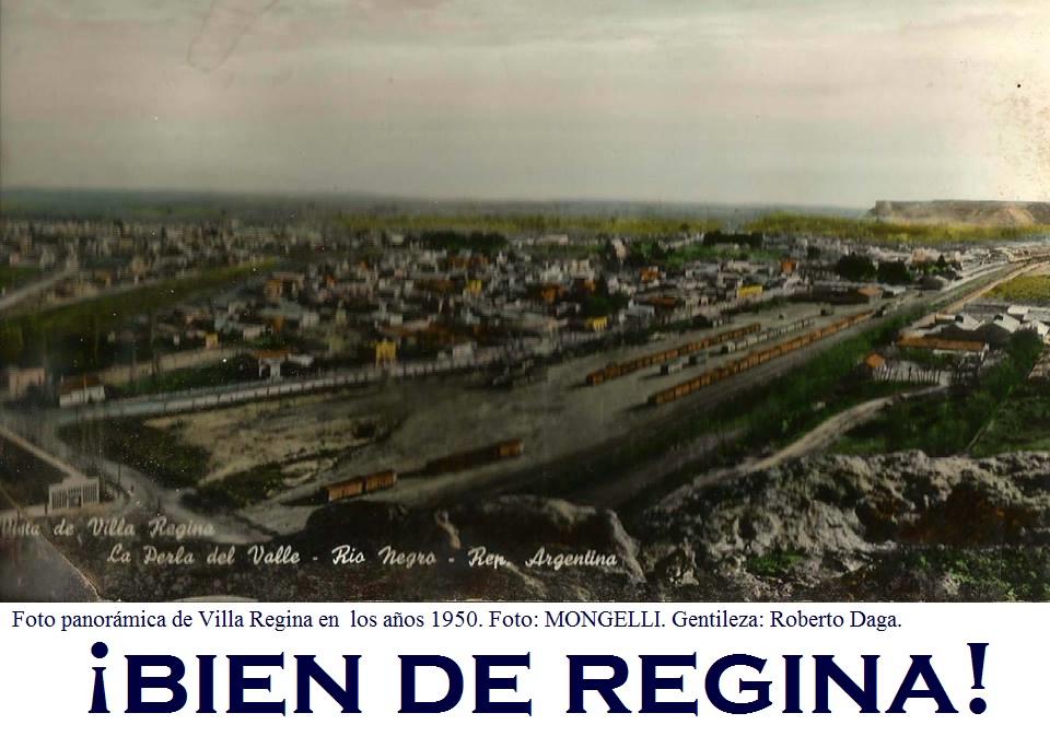 Foto panorámica de Villa Regina. Año: 1.950.