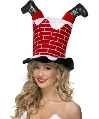 Santa stuck in the chimney hat