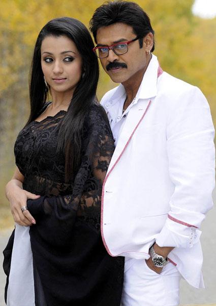 Heroine trisha krishnan Venkatesh Bodyguard telugu movie stills pics1112