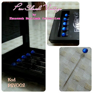 Pin Shawl Turki PSV002 Biru Gelap