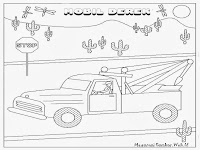 Mobil Derek Jalan Tol Untuk Diwarnai