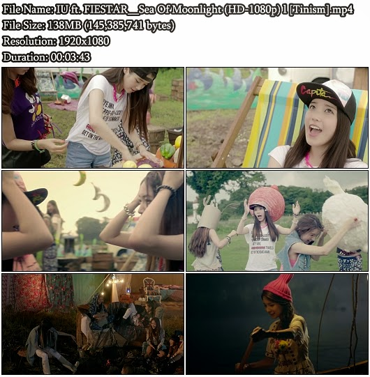 Download MV IU (아이유) ft. FIESTAR (피에스타) - Sea Of Moonlight (달빛바다)  (Full HD 1080p)