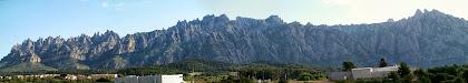 Panoràmica de Montserrat des de la carena del Collet Blau