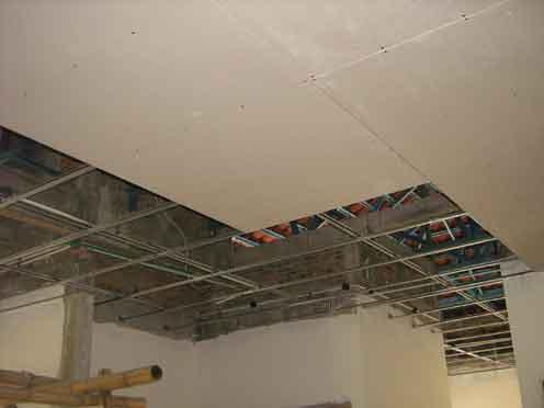 Harga Pasang Plafond Gypsum dan GRC dengan Rangka Hollow Galvanis 2013