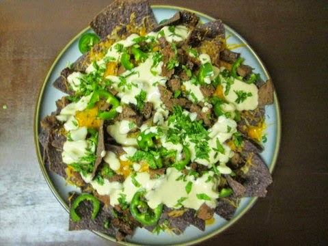 Steak and Beer Cheese Nachos