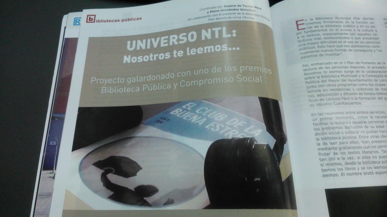 Universo NTL en la revista Mi Biblioteca