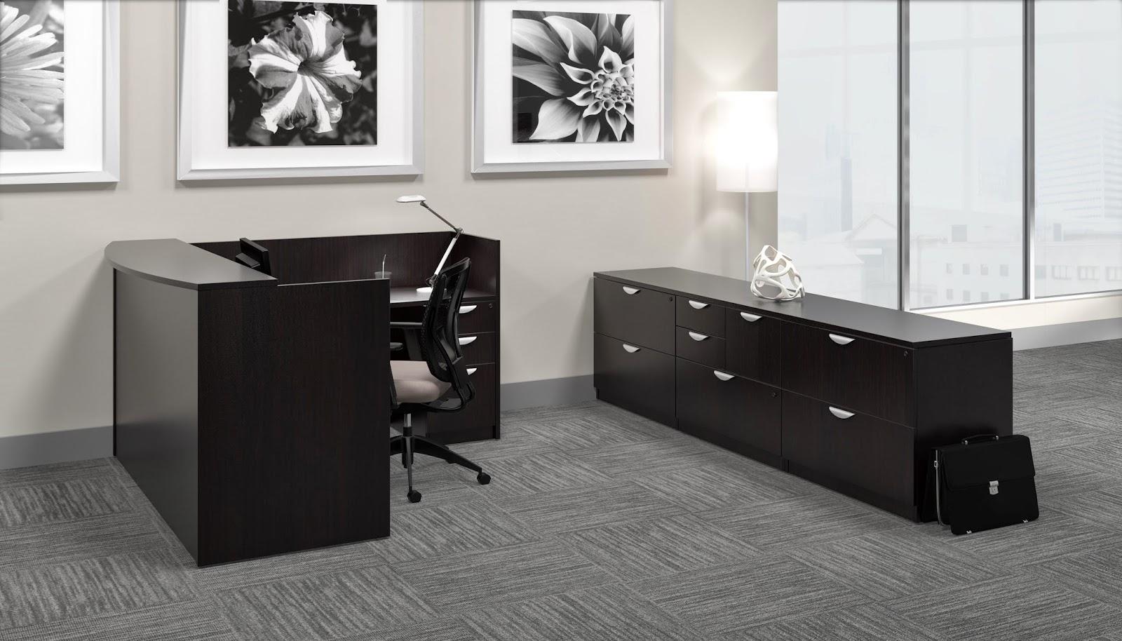 Offices To Go Espresso Reception Desk