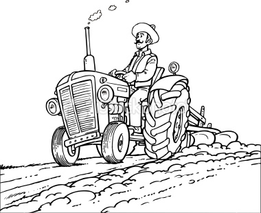 Farmer On Tractor on Farm Connect The Dots