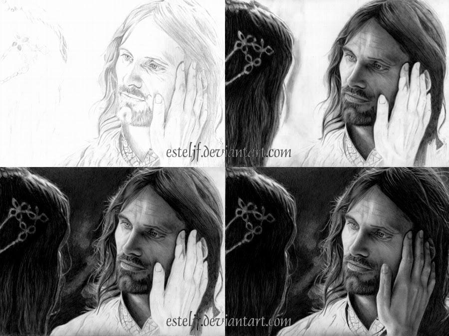 08-Aragorn-Viggo-Mortensen-Arwen-Liv-Tyler-Josi-Fabri-Esteljf-The Hobbit-LotR-www-designstack-co