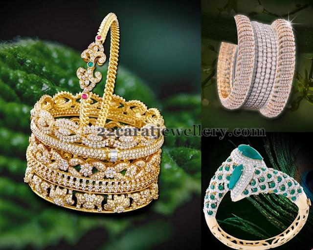 Classy Diamond Bangles by Prince