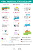 Calendario escolar 195 días 2018-2019