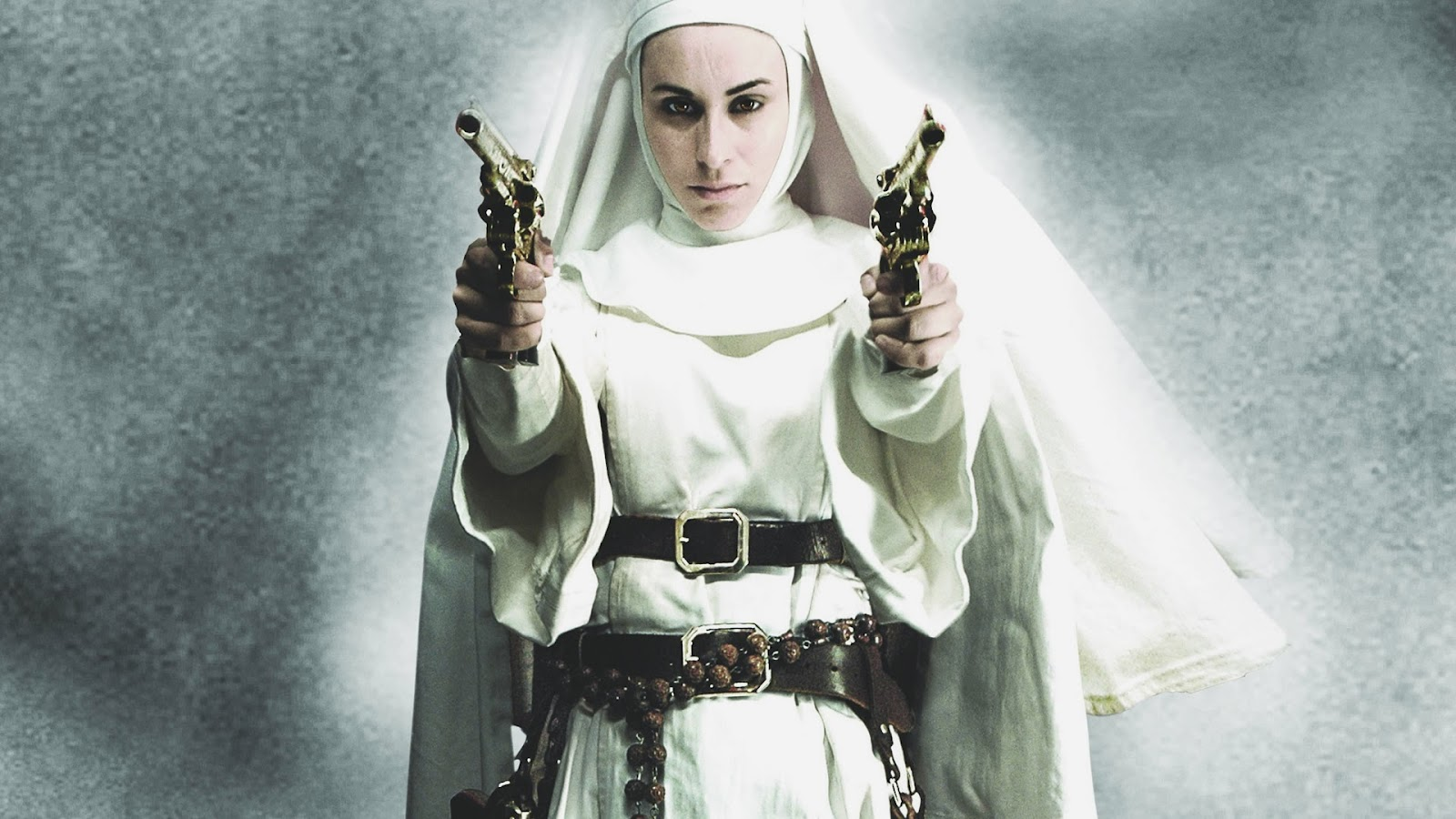 Nude+Nuns+with+Big+Guns ... and out of sheer panties & stockings, playing with her full mature bush.