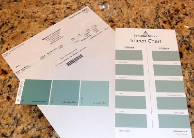 Benjamin Moore Aura HC-137 Mill Springs Blue Color Sample
