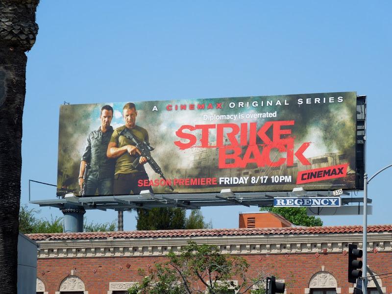 Strike Back season 2 Cinemax billboard